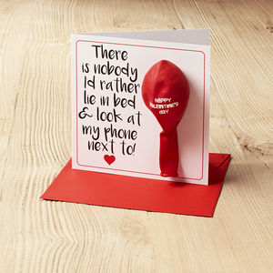 There Is No One I Would Rather… Balloon Card - valentine's cards