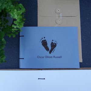Personalised New Baby Leather Photo Album