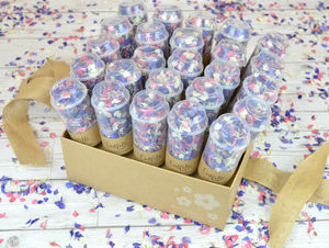25 Biodegradable Confetti Pop Kraft Box - table decorations