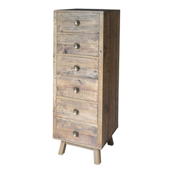 Plank Tall Six Drawer Chest