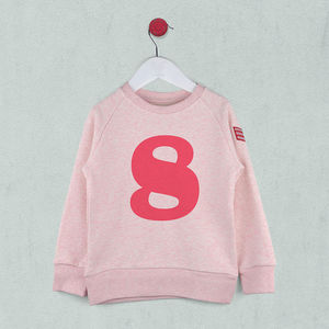 Age Eight Sweatshirt Pink Or Blue