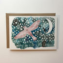 Christmas Card Starry Bird