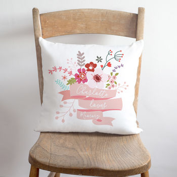 Loves Mummy Floral Cushion