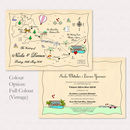 Illustrated Map Wedding Or Party Invitation