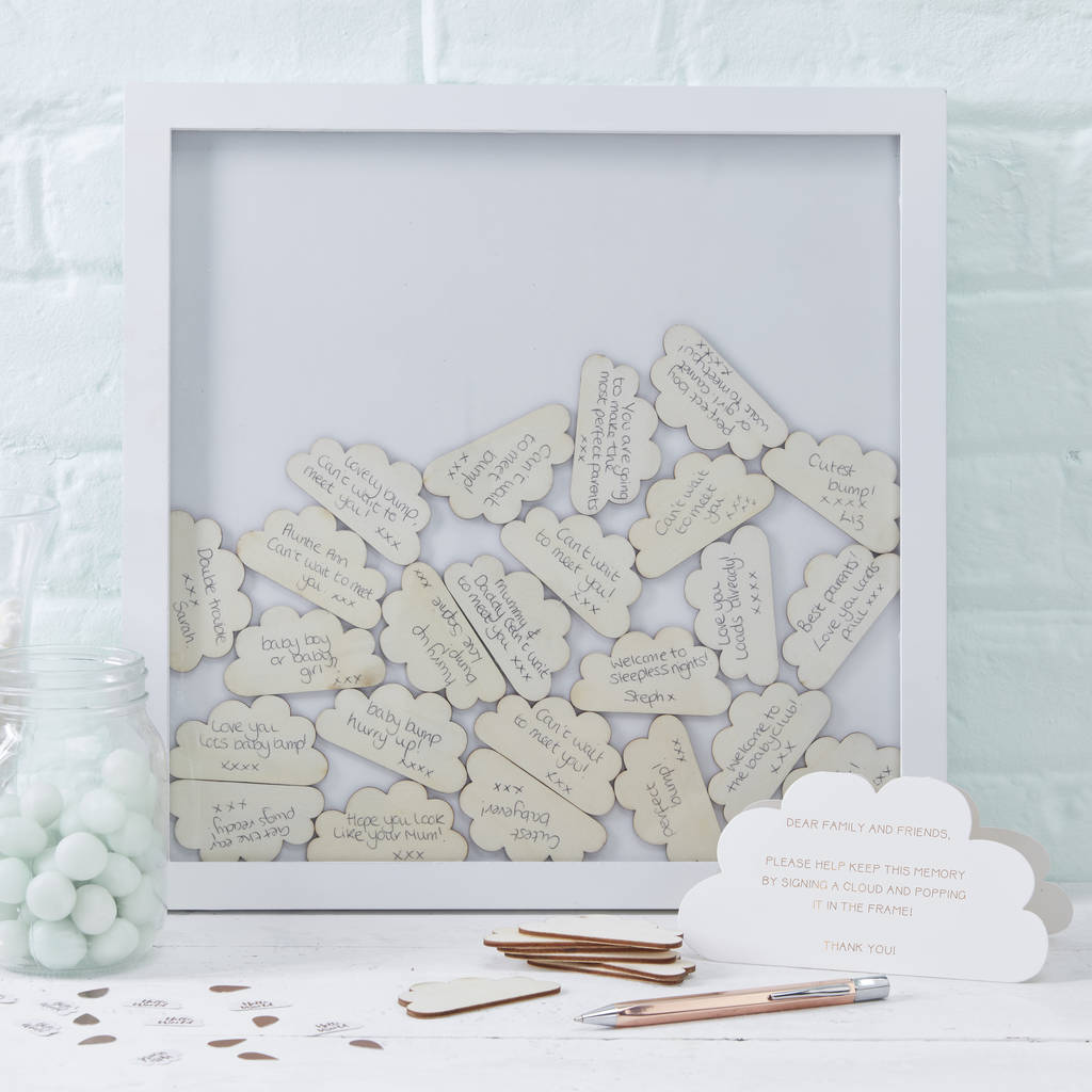 Frame Drop Top Baby Shower Guest Book Alternative By Ginger Ray