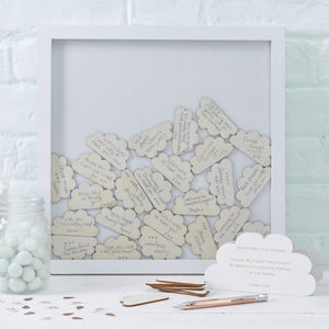 Frame Drop Top Baby Shower Guest Book Alternative
