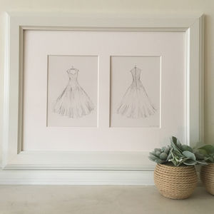 Wedding Dress Hand Drawn Illustration