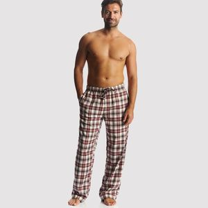 Men's Check Brushed Cotton Pj Trousers - men's fashion