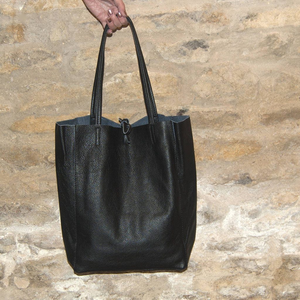 colourful soft italian leather casual tote shopper by grace   valour ... 7e11e703ea66
