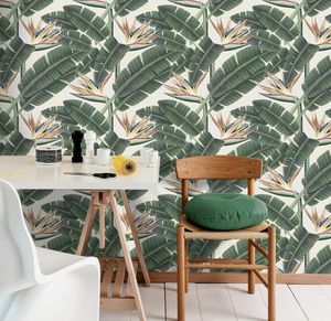 Tropical Bloom Wallpaper Set Of Three Rolls - update your walls