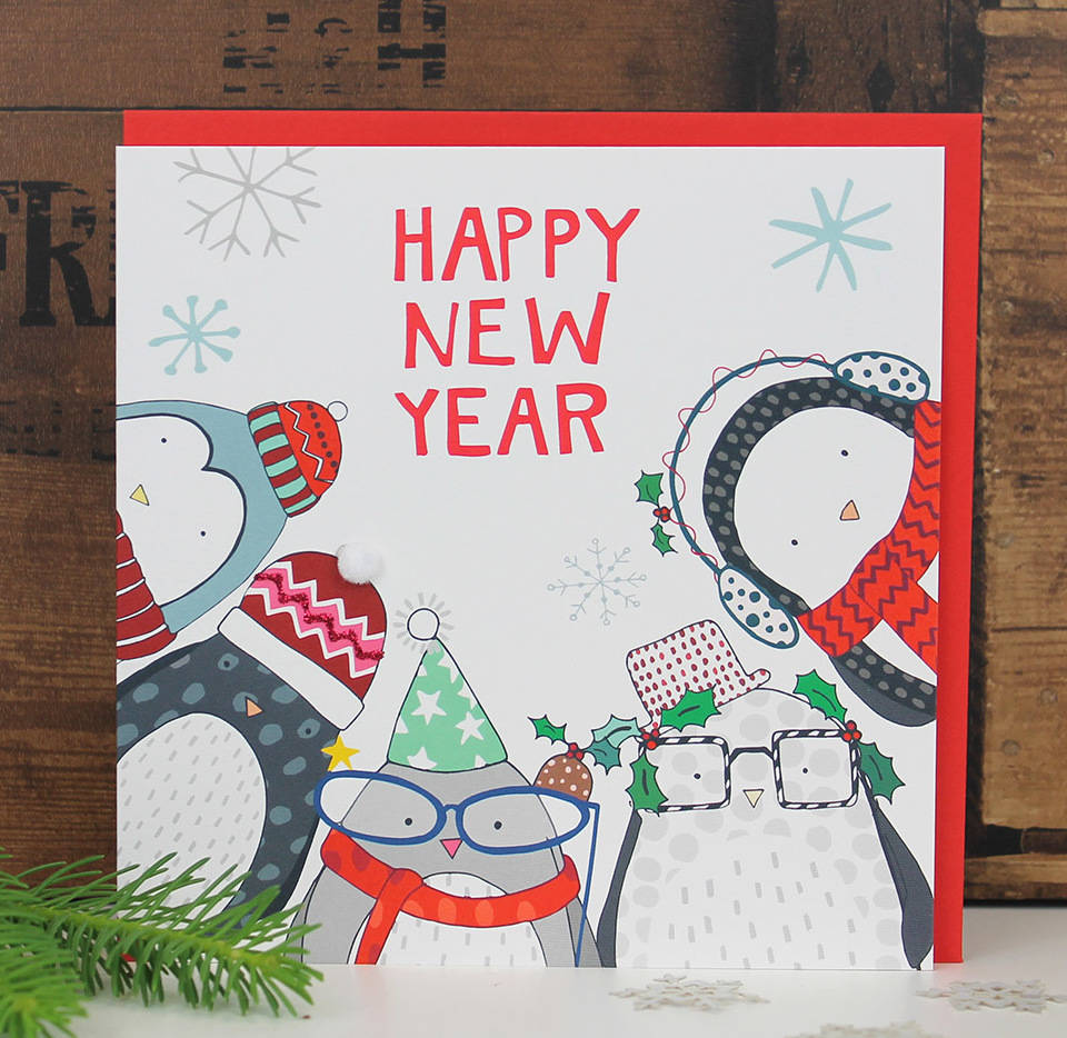 happy new year greetings card by molly mae | notonthehighstreet.com