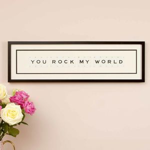 You Rock My World Valentine Frame - valentine's gifts for him