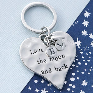 Love You To The Moon And Back Keyring - womens