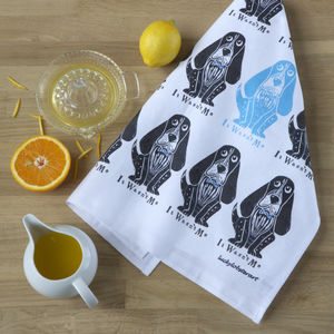 Bassett Hound Tea Towel