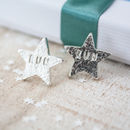 Run Silver Star Earrings
