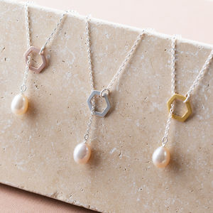 Pearl Lariat Necklace In Silver, Gold Or Rose Gold - necklaces & pendants