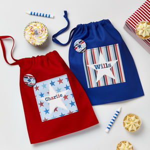 Boys Personalised Bright Star Party Bag - bags, purses & wallets