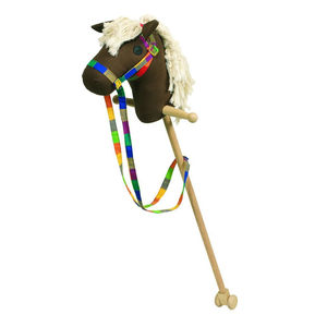Chocolate Brown Fabric Hobby Horse - ride on & rocking toys