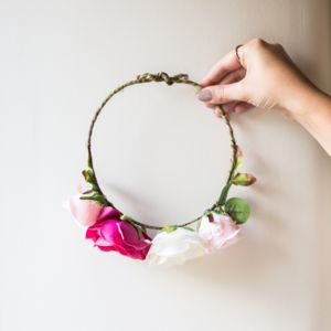 Little Girls Floral Crown - wedding fashion