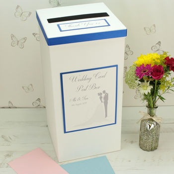 Personalised Bride & Groom Wedding Post Box