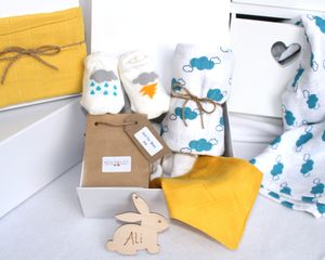 Unisex Baby Gift Box Cloud Print - gift sets
