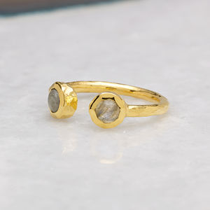 18ct Gold Vermeil Boho Open Ring - rings