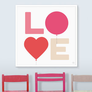Love Balloons Print - winter sale