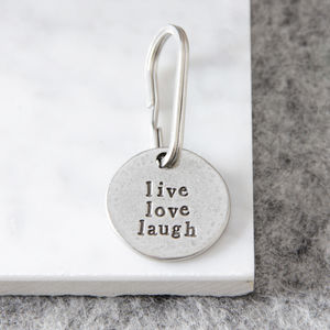 'Live Love Laugh' Keyring - men's accessories