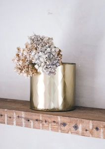 Shiny Gold Embossed Pot