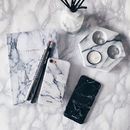 Set Of Two White And Black Marble iPhone Cases