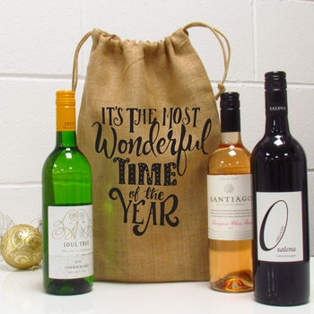 The Most Wonderful Time Of The Year Wine Gift Bag