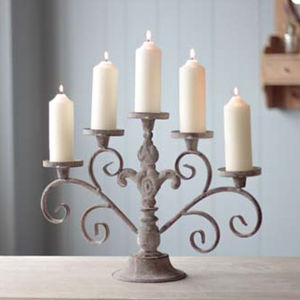 Victorian Five Pillar Candelabra - votives & tea light holders
