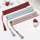 Personalised Message Leather Bookmark