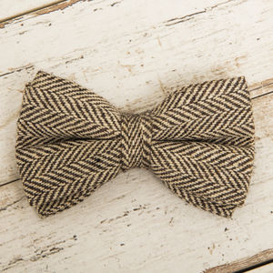 The Beaufort Country Tweed Dog Bow - dogs