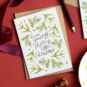 Merry Little Christmas Scandi Christmas Card - cards