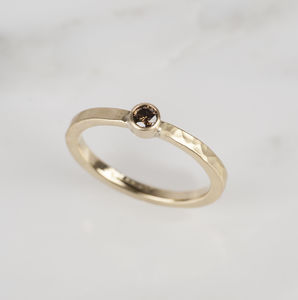 Chocolate Diamond 18ct Yellow Gold Engagement Ring - view all fine jewellery