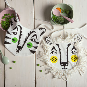 Safari Animals Baby Bib Set - winter sale