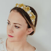 Embellished Gold Baroque Anais Headband Crowns - accessories
