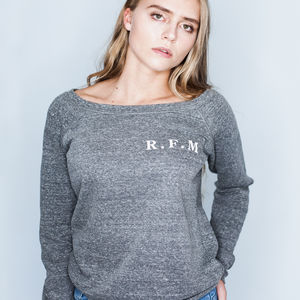 Personalised Initials Women's Sweatshirt Supersoft Lux