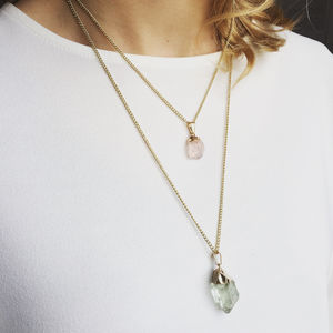 Astro Raw Crystal Pendant - necklaces & pendants