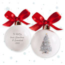 Baby's Personalised Christmas Tree Bauble