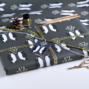 Penguin Christmas Wrapping Paper Gift Set - winter sale
