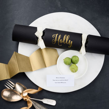 Personalised Brussels Sprouts Christmas Cracker