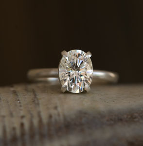 Forever Brilliant Moissanite Engagement Ring - unique engagement rings