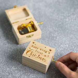 Personalised Traditional First Christmas Music Box - stocking fillers for babies & children