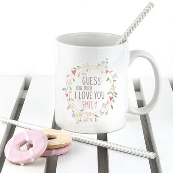 Personalised 'Guess How Much I Love You' Mug