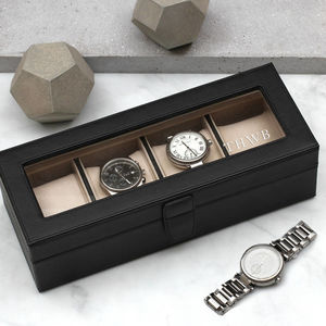 Personalised Luxury Italian Leather Watch Box