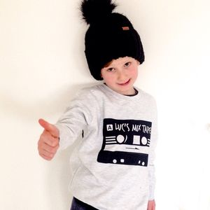 Child's Personalised Mix Tape Sweatshirt - children's shirts & blouses