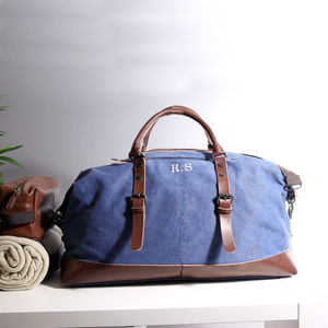 Classic Canvas Holdall In Vintage Blue - 60th birthday gifts