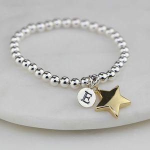 Personalised Children's Gold Star Bracelet - christening jewellery